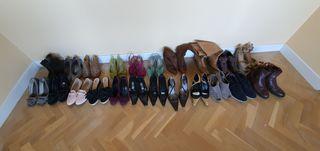 Lote de 22 pares de zapatos del 37
