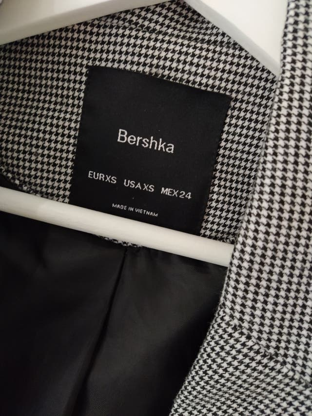 blazer Bershka cuadros