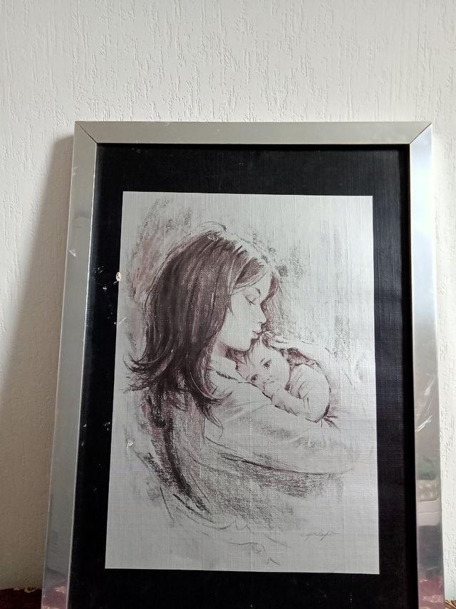 cuadro de madre