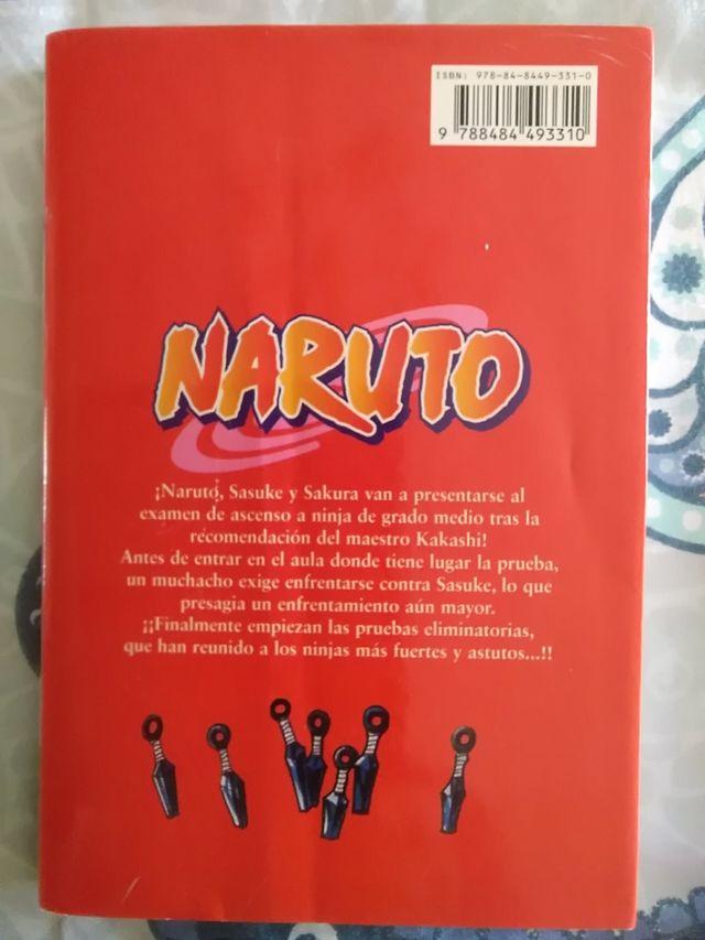 Libro Naruto n° 5. Cómic manga-anime.