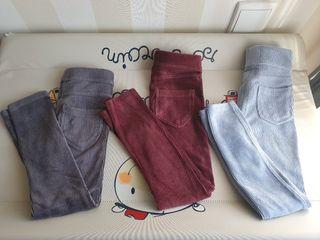 pantalones leguins niña talla 5 - 6 años.