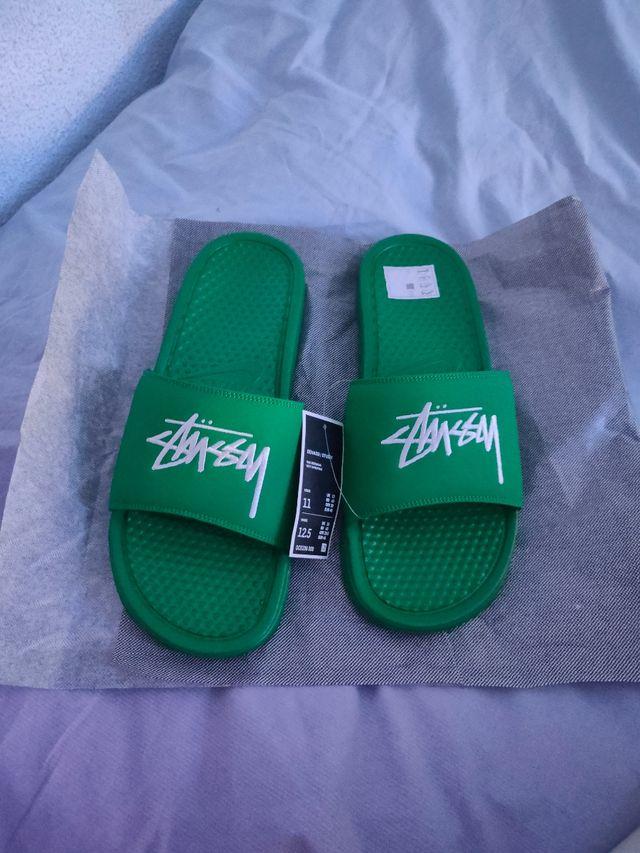 Nike benassi stussy Green verde