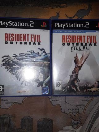 Resident Evil Outbreak y Outbreak file 2 ps2