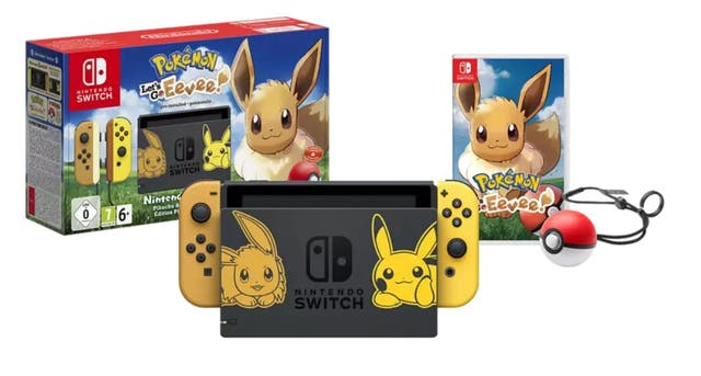 Nintendo Switch edición Pokemon Lets Go + Pokeball