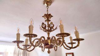 Lámpara techo bronce