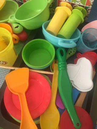 Lote de juguetes complementos plastilina playdoh