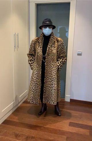 Abrigo de leopardo auténtico