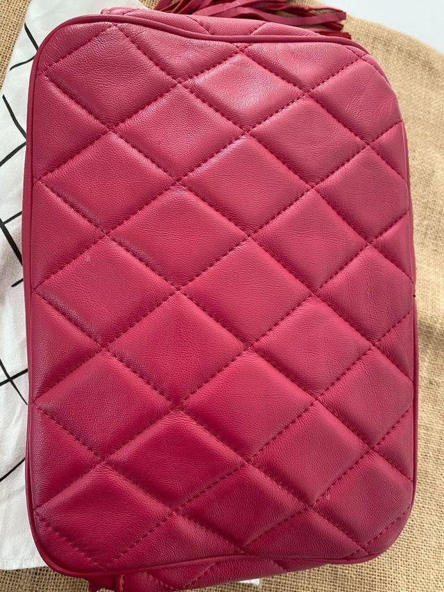 Bolso piel rosa vintage original