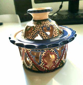 Porta velas de cerámica