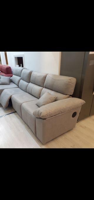 sofá cheslonge eléctrico con bluetooth USB