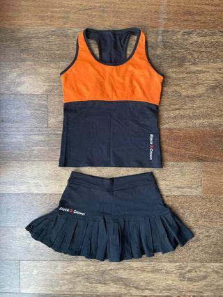 Conjunto ropa padel Black Crown mujer