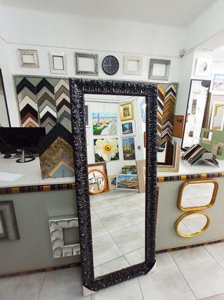 NUEVO Espejo Negro 180x60 Diseño Italiano