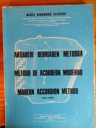 Método de acordeón moderno.Opus 1000