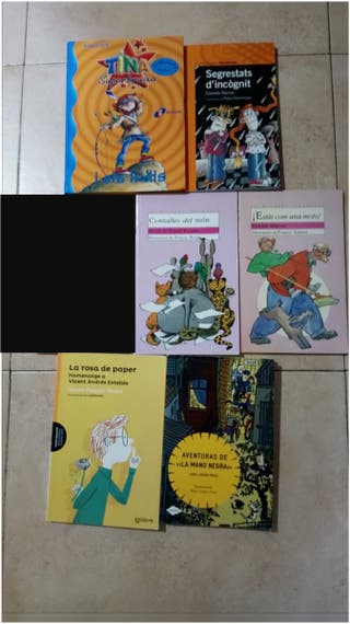 Lote libros 10 años catalán