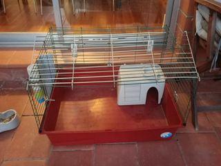 jaula grande conejo cobaya