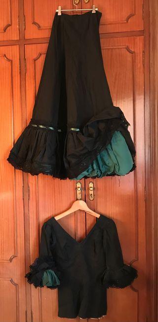Falda y blusa de flamenca talla 36-38