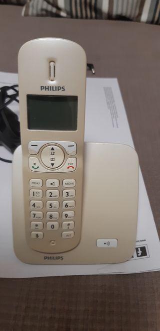 Telefono inalambrico philips color blanco perla