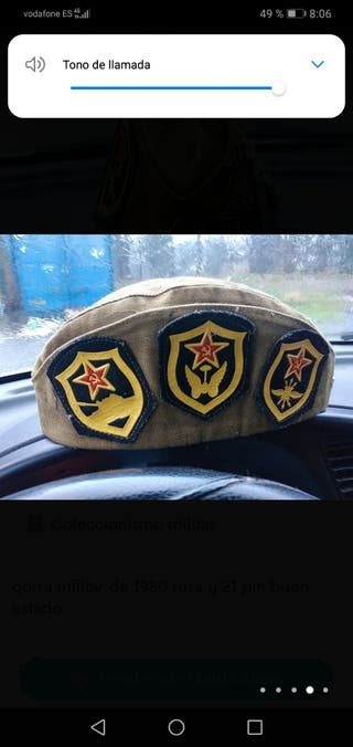 gorra militar rusa y 21 pin