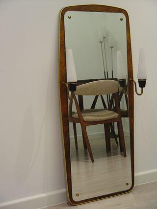 Espejo Vintage danés palisandro