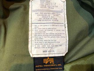 Chaqueta Alpha Industries M-65 Woodland USArmy M