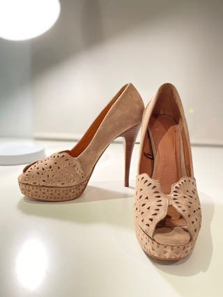 Zapatos peep toe de tacón
