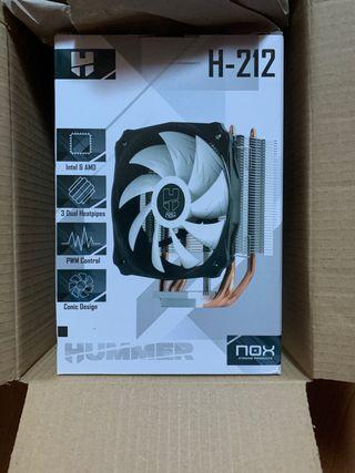 Disipador CPU NOX H-212 SIN USAR