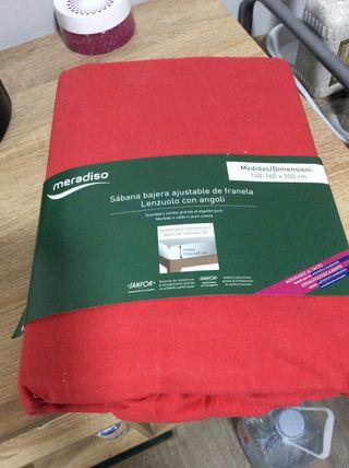 SabAna bajera ajustable franela 140-160 nueva