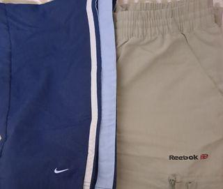 2 Bermudas Nike y Reebok