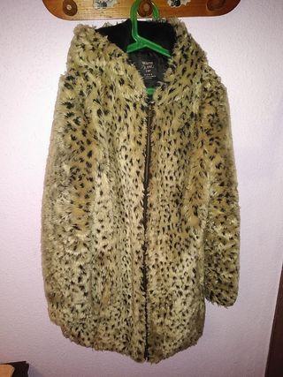 Abrigo Zara talla S pelo estampado animal leopardo