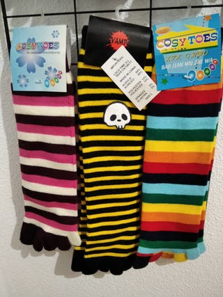 Calcetines de invierno con dedos