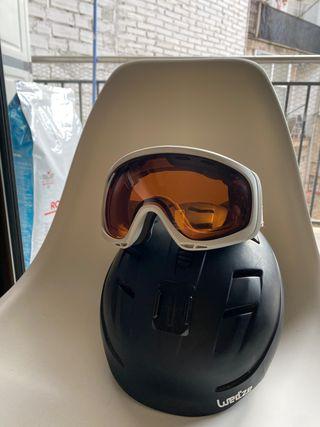Casco esquí + gafas