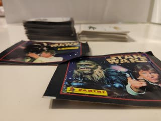 Cromos Starwars de 1996 y pegatinas