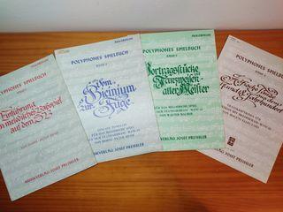 Polyphones SpIelbuch tomos 1,2,3y 4. Horst y Hesse
