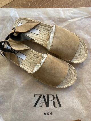 sandalias suela esparto ZARA
