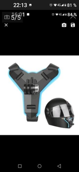soporte cámara go pro/GoPro mentonera casco
