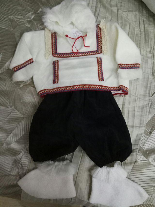 dos disfraces de esquimal niño y niña talla 1 año