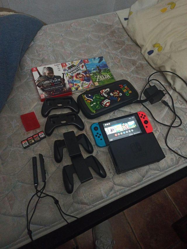 Nintendo switch+5juegos