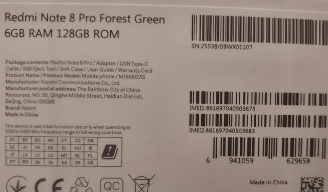Xiaomi Redmi Note 8 Pro + Xiaomi Huami Amazfit