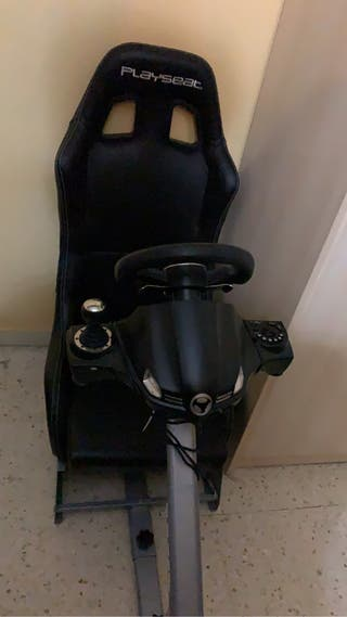 Asiento playseat + volante subsonic + pedales