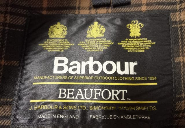 Barbour original con forro y bote de cera