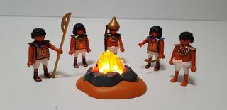 Playmobil soldados egipcios y hoguera