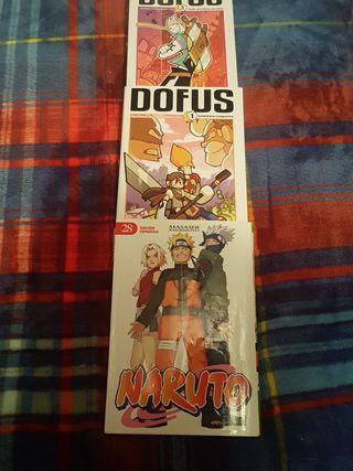 3 cómics: Naruto 28 y Dofus 1 y 3