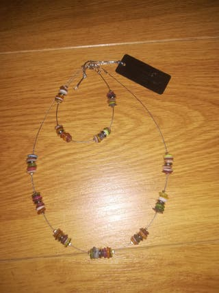 New look cute jewellery set bracelet and necklace