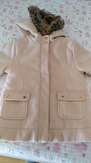 abrigo rosa 4 años