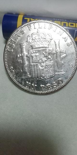 Plata. Un peso Filipinas