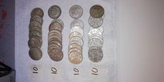 Plata. lote 40 Monedas 1966.