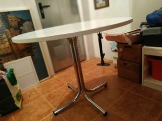 Mesa cocina redonda blanca