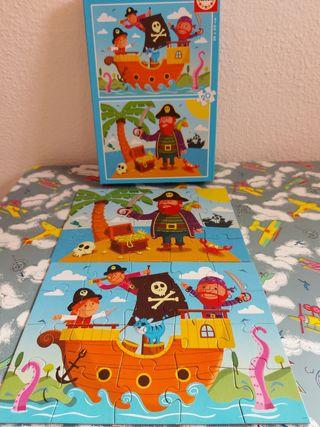 Puzzles madera piratas 20 piezas cada 1, caja 2u