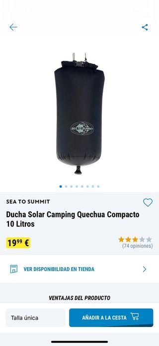 Ducha solar camping/camperizaciones