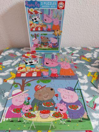 Puzzles Peppa Pig caja de 2 puzzles